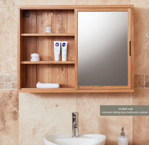 Bathroom-Collection-Solid-Oak-Mirrored-Wall-Shelf-Unit