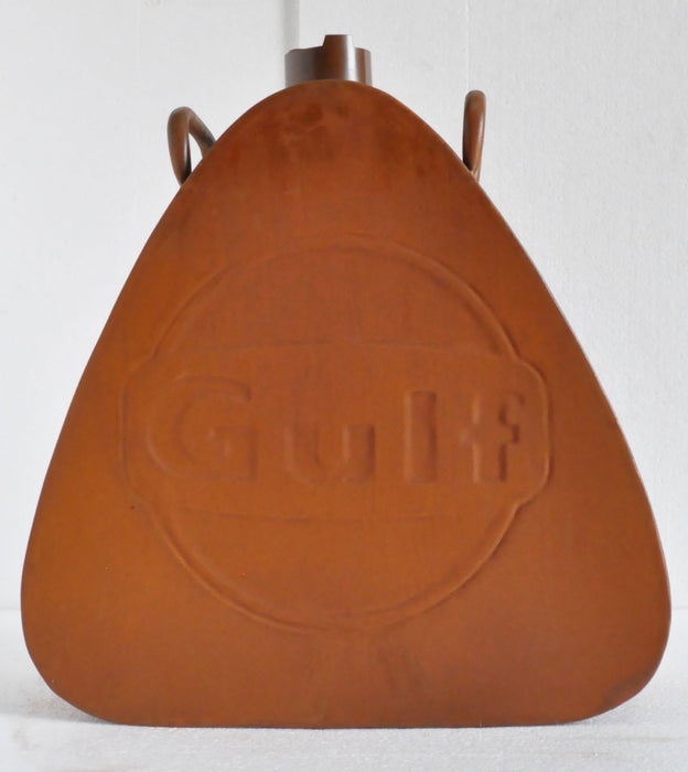 Gulf Oil Can Rustic Triangle