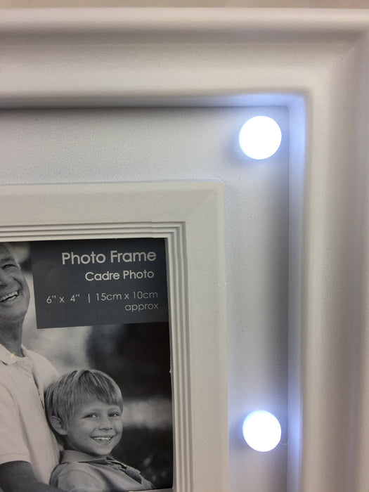 White LED 4 Photo Frame 39cm