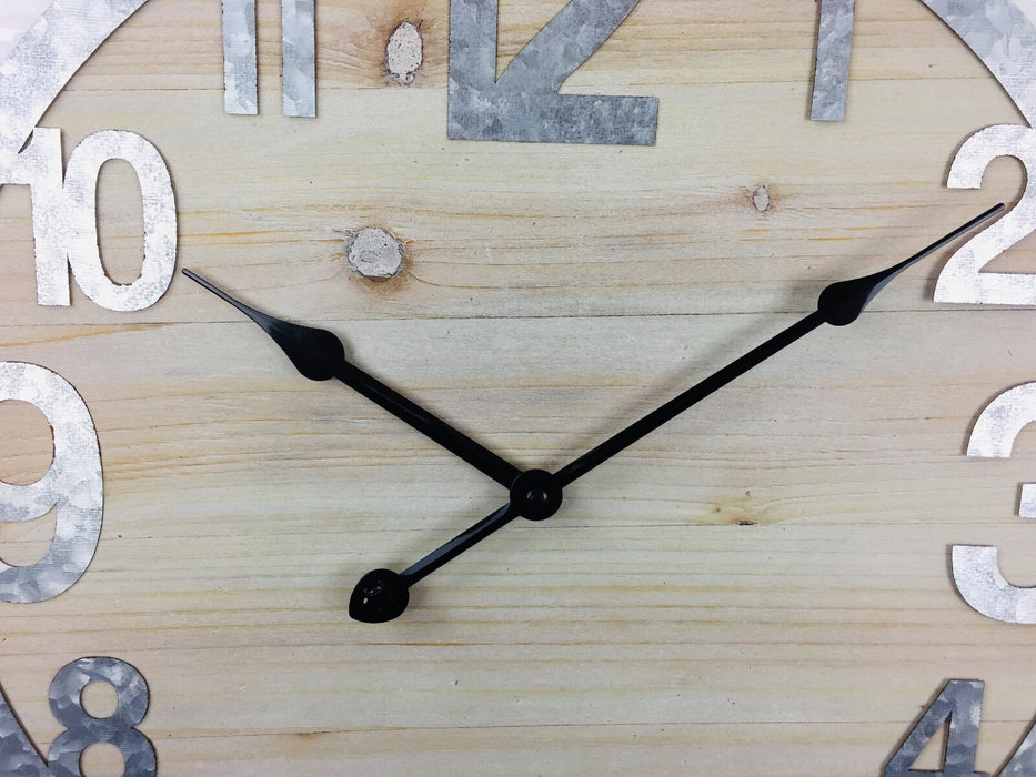 Wooden Wall Clock with Zink Numbers 40cm
