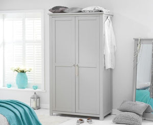 Sandringham Solid Hardwood Painted Grey - Ladies All Hanging Wardrobe All Grey