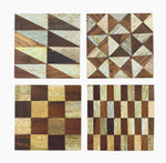Set/4 Assorted Wood Inlay Coasters