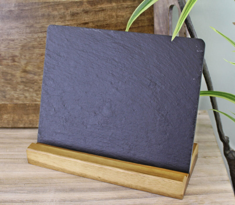 Acacia Wood Slate Menu Board