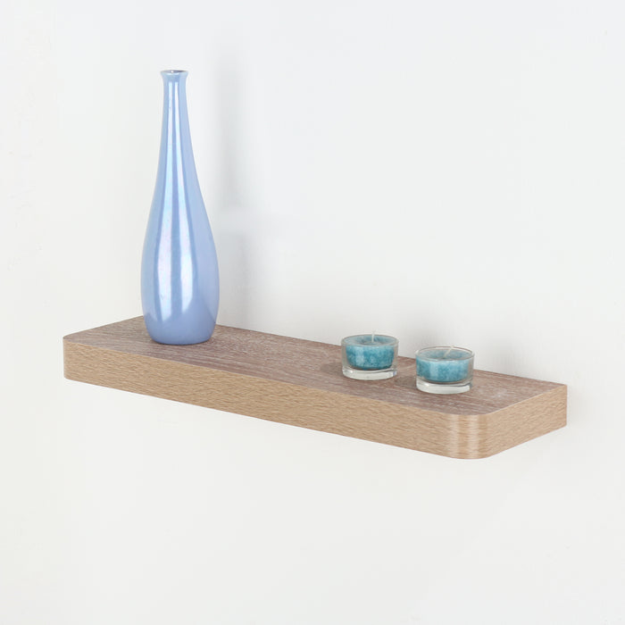 Trent Narrow Floating Shelf Kit in Oak Effect