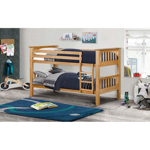 Julian Bowen Barcelona Bunk Bed Pine Roomset
