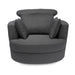 Bliss Large Swivel Chair Grey