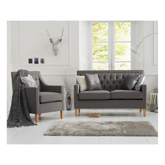 Casa Bella 2 Seater Sofa - Grey Linen - PT28018 Additional Image 1