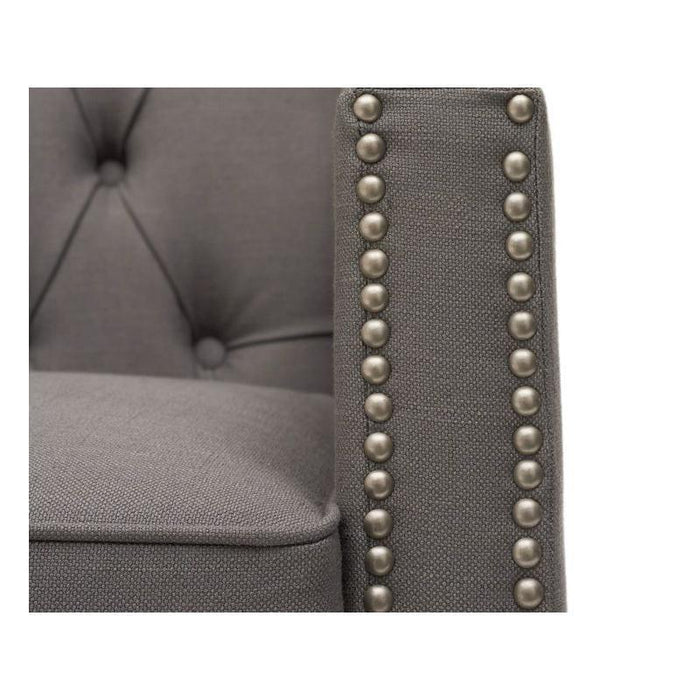 Casa Bella 2 Seater Sofa - Grey Linen - PT28018 Additional Image 3
