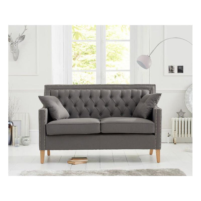 Casa Bella 2 Seater Sofa - Grey Linen - PT28018 Additional Image 8