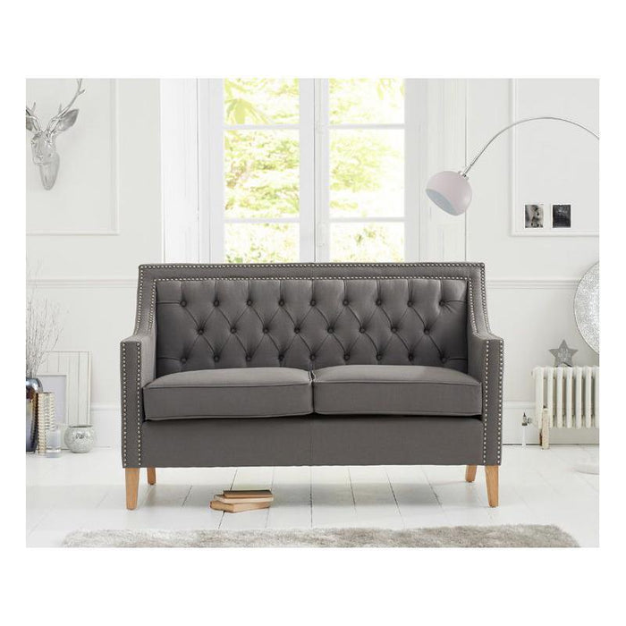 Casa Bella 2 Seater Sofa - Grey Linen - PT28018 Additional Image 9
