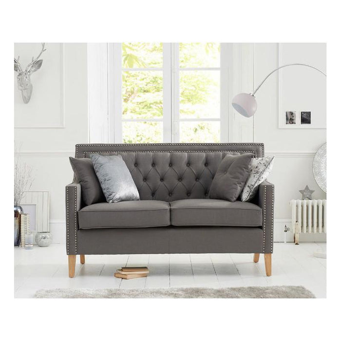 Casa Bella 2 Seater Sofa - Grey Linen - PT28018