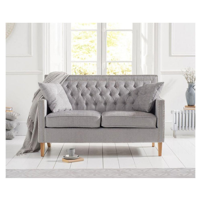 Casa Bella 2 Seater Sofa - Grey Velvet - PT32183