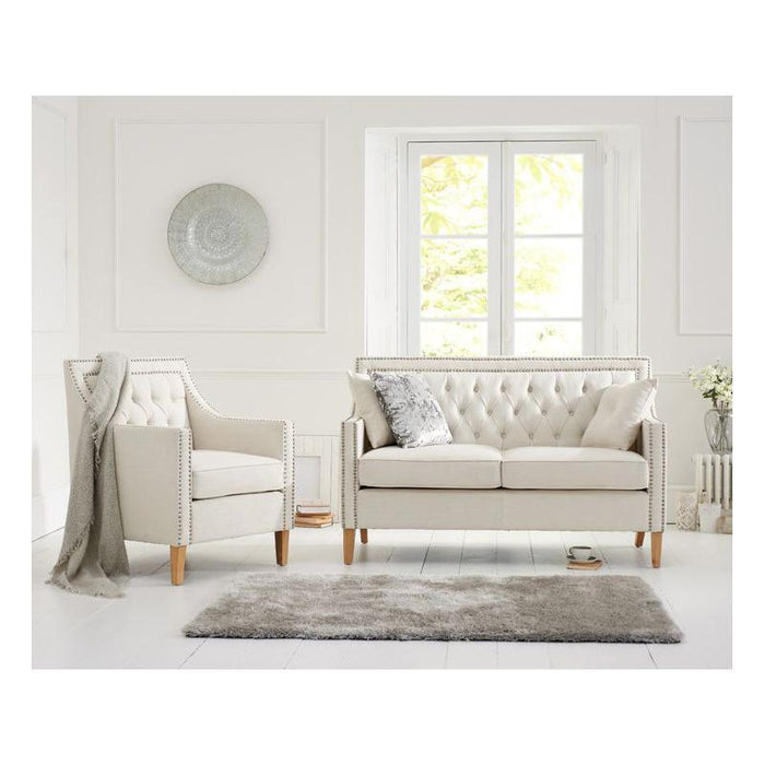 Casa Bella 2 Seater Sofa - Ivory Linen - PT28015 Additional Image 1