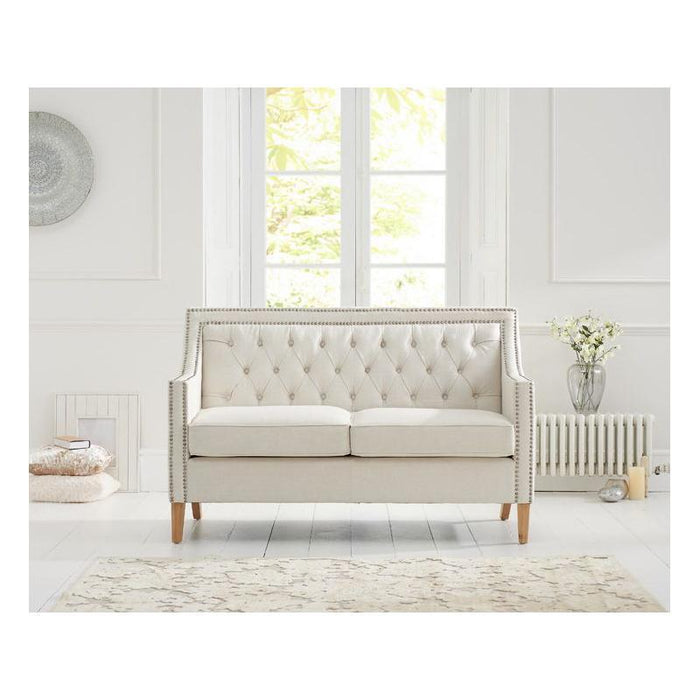Casa Bella 2 Seater Sofa - Ivory Linen - PT28015 Additional Image 6