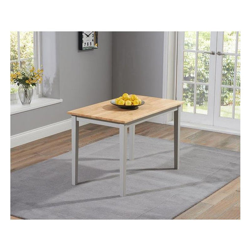 Chichester Solid Hardwood & Painted Dining Table - Oak & Grey - 115cm - PT31110