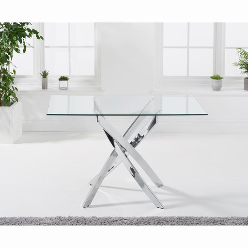 Daytona Rectangular Glass Dining Table - 120cm - PT30575
