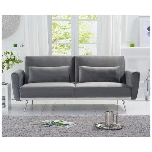 Elsa Grey Velvet Sofa Bed - PT32981