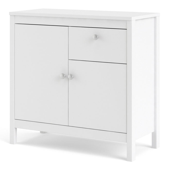 Madrid Sideboard 2 doors + 1 drawer in White