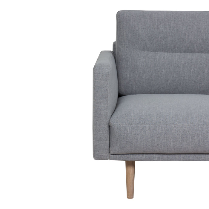 Larvik Chaiselongue Sofa (RH) - Grey, Oak Legs