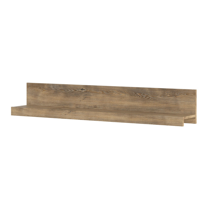 Rapallo 135 cm wide wall shelf in Chestnut and Matera Grey