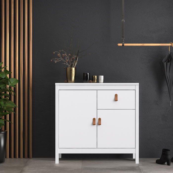 Barcelona Sideboard 2 doors + 1 drawer in White