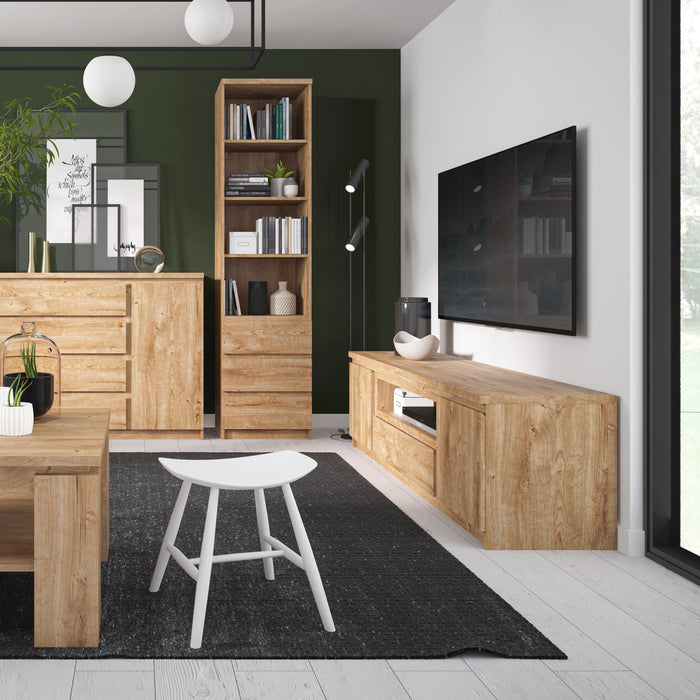 Fribo 1 door 5 drawer cabinet in Oak