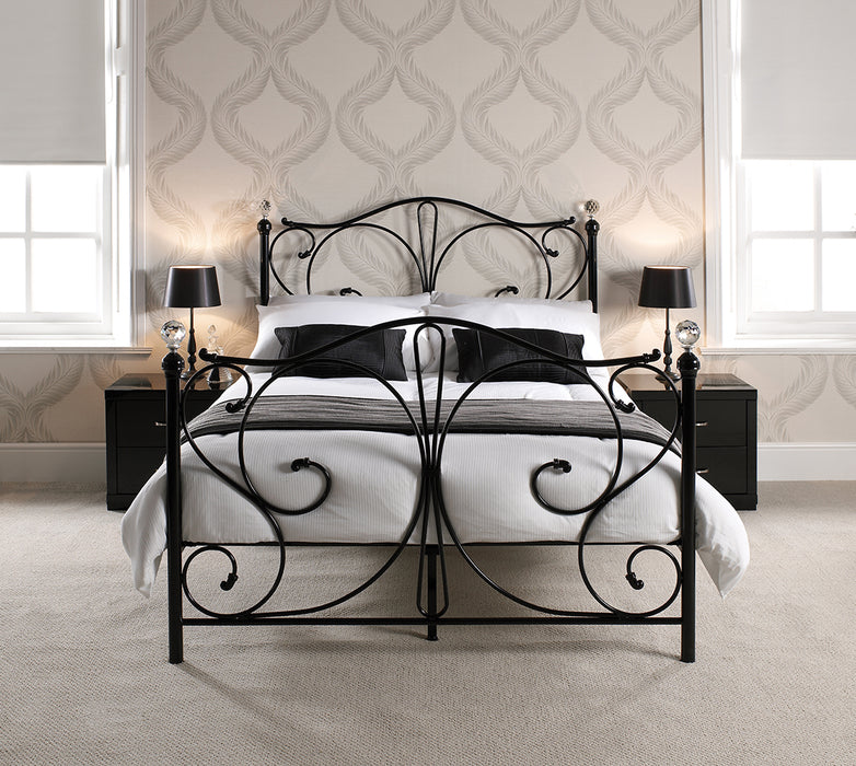 Florence 4.6 Double Bed Black