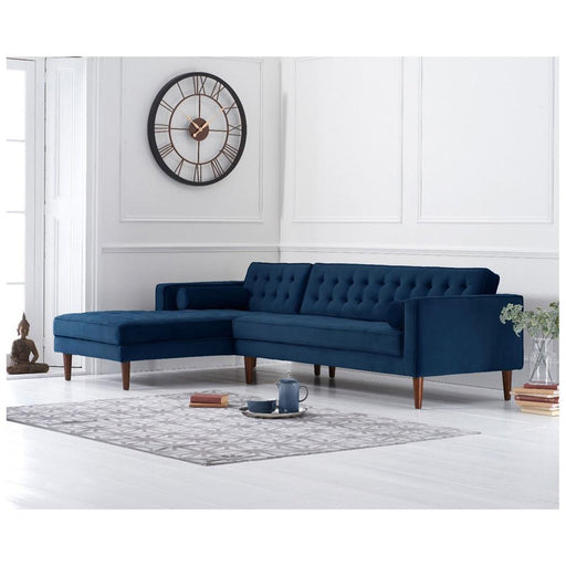 Idriana Left Facing Chaise Sofa - Blue - PT31928