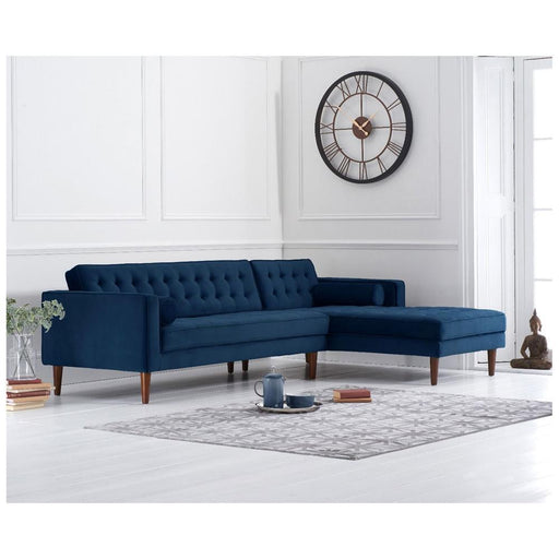 Idriana Right Facing Chaise Sofa - Blue - PT31927