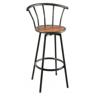 Iron Bar Stool with Vertical Slats