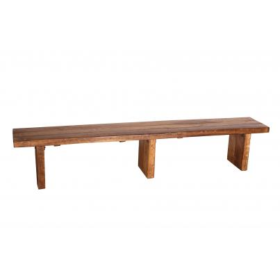 Solid Wood 245cm Bench