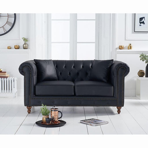 Montrose 2 Seater Sofa - Black Leather - PT30579
