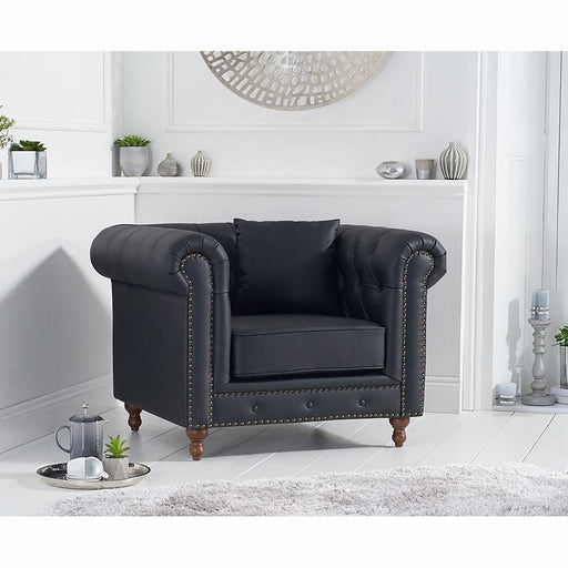 Montrose Armchair - Black Leather - PT30580