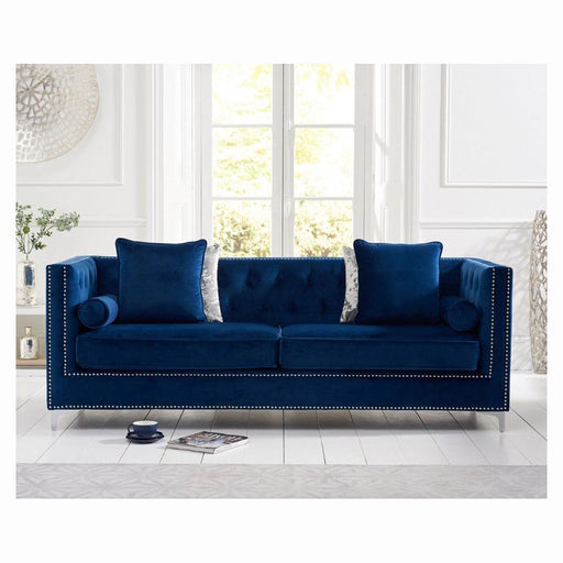 New England 4 Seater Sofa - Blue - PT32296