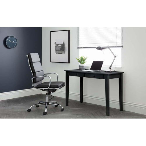 Julian Bowen Norton Office Chair Carrington Black Desk Roomset