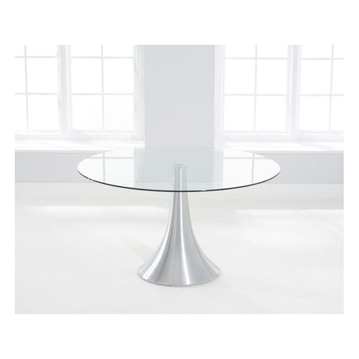 Petra 135cm Round Glass Dining Table - PT36082