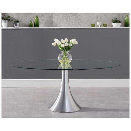 Pria 180cm Oval Glass Dining Table - PT32752