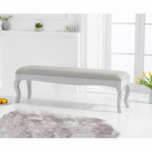Sienna bench with grey padded seat (to go with the 175cm grey table) - Grey - PT31906