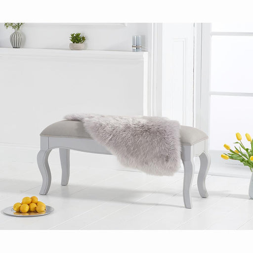 Sienna small bench with grey padded seat (to go with the 130cm grey table) - Grey - PT31907
