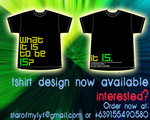 Information Systems: Statement T-shirt FOR SALE [PRE-SELLING]