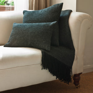 Alpaca Black Grey throw