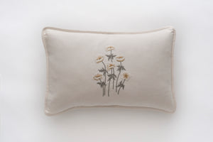 Anenomes Cream linen cushion
