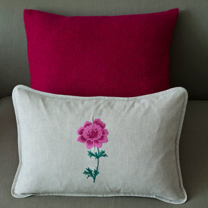 Anenome Pink linen cushion