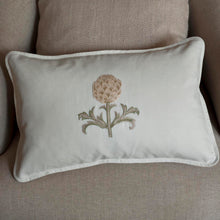 Artichoke Cream linen cushion