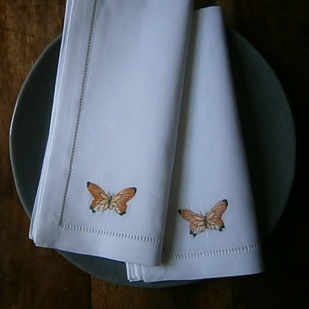Butterfly napkin set of 4
