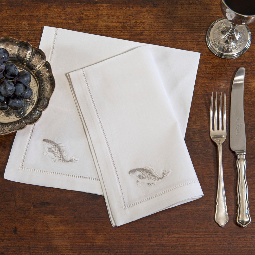 Fish Silver napkins
