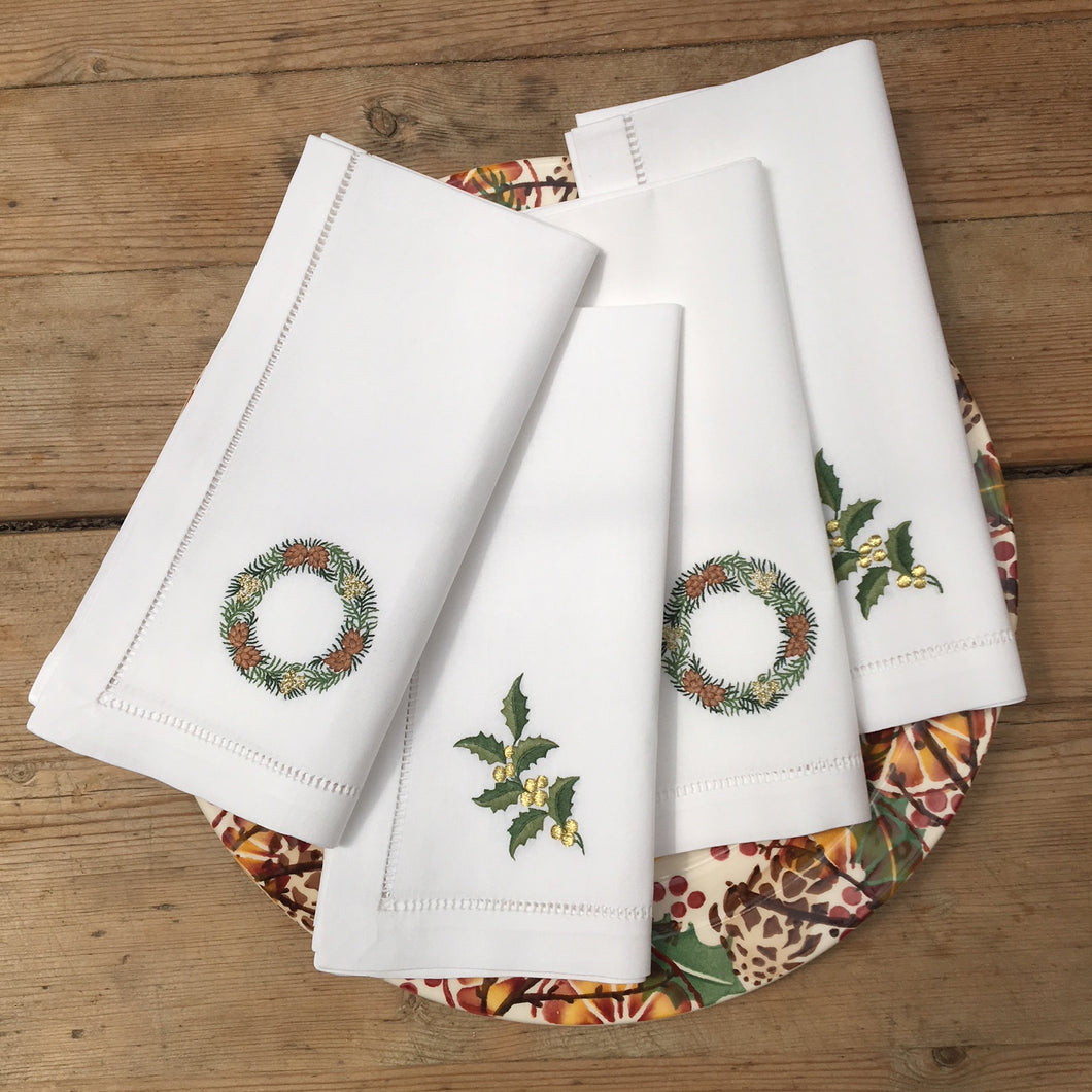 Holly & Wreath napkins