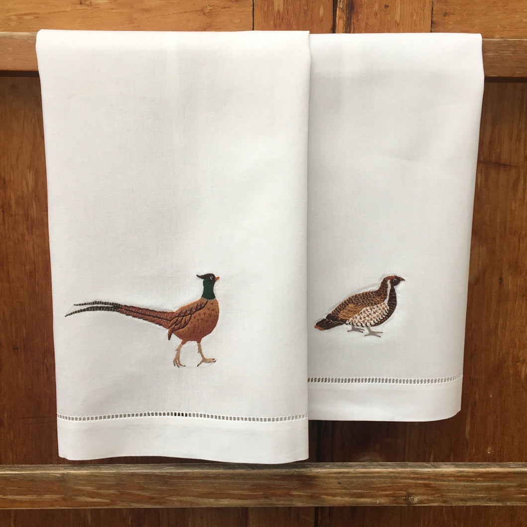 Pheasant + Grouse hand towels
