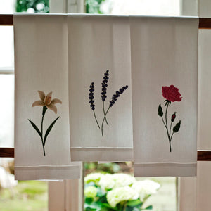 Flower hand towels