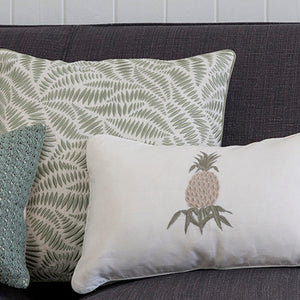 Pineapple Stone linen cushion